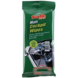 Салфетки для пластика матового Turtle Wax Matt Cockpit Wipes 20 шт (упаковка)
