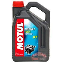 Моторное масло для лодок 4Т Motul Inboard Tech 4T 15w-50 5 л