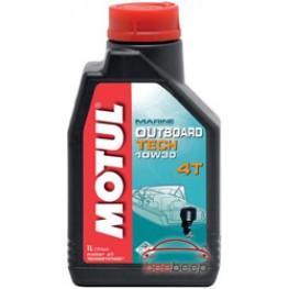 Моторное масло для лодок 4Т Motul Outboard Tech 4T 10w-30 1 л