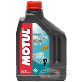 Моторное масло для лодок 4Т Motul Outboard Tech 4T 10w-40 2 л