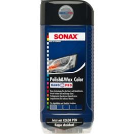 Полироль с воском «Синий» Sonax Polish & Wax Color Blue 296200 500 мл