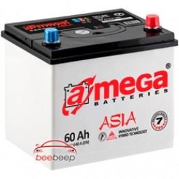 Аккумулятор автомобильный A-Mega ASIA 6CT-60-Аз R+