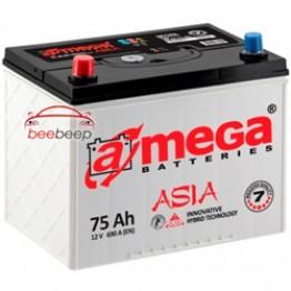 Аккумулятор автомобильный A-Mega ASIA 6CT-75-Аз R+