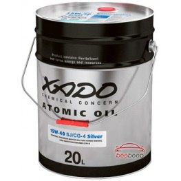 Моторное масло Xado Atomic Oil 15W-40 CG-4/SJ Silver 60 л