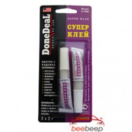 Клей на основе цианакрилата / суперклей DoneDeal Super Glue DD6594 DD6601 DD6608 2 x 2 г