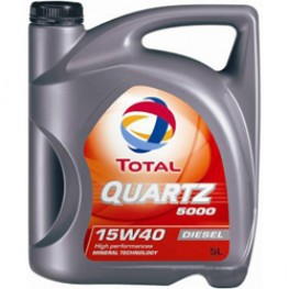 Моторное масло Total Quartz 5000 Diesel 15W-40 5 л