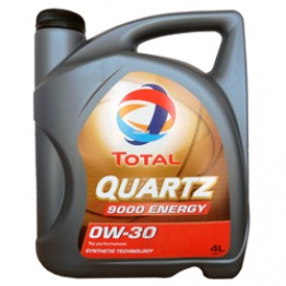 Моторное масло Total Quartz Energy 9000 0W-30 4 л