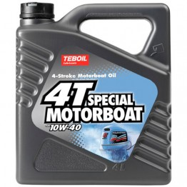 Моторное масло для лодок 4Т Teboil 4T Special Motorboat 10W-40 4 л