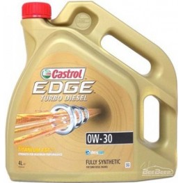Моторное масло Castrol EDGE Turbo Diesel 0W-30 Titanium 4 л