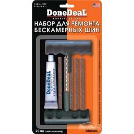 Набор для ремонта бескамерных шин DoneDeal Radial Tire Repair Kit DD0308 20 мл