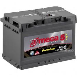 Аккумулятор автомобильный A-Mega Premium 6СТ-60-Аз L+