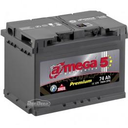 Аккумулятор автомобильный A-Mega Premium 6СТ-74-Аз R+