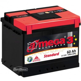 Акумулятор автомобільний A-Mega Standard 6СТ-60-Аз L+
