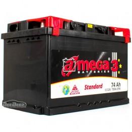 Акумулятор автомобільний A-Mega Standard 6СТ-74-Аз L+