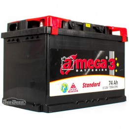 Акумулятор автомобільний A-Mega Standard 6СТ-74-Аз R+