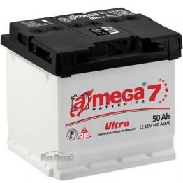 Аккумулятор автомобильный A-Mega Ultra 6СТ-50-Аз R+