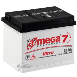 Акумулятор автомобільний A-Mega Ultra 6СТ-62-Аз R+