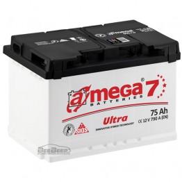 Аккумулятор автомобильный A-Mega Ultra 6СТ-75-Аз R+