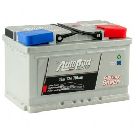 Аккумулятор автомобильный AutoPart Galaxy Silver 75Ah R+