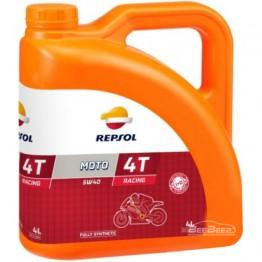 Моторное масло для мотоцикла Repsol Moto Racing 4T 5w-40 4л