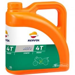 Моторное масло для мотоцикла Repsol Moto Rider 4T 15w-50 4л