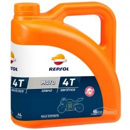 Моторное масло для мотоцикла Repsol Moto Sintetico 4T 10w-40 4л