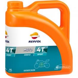 Моторное масло для мотоцикла Repsol Moto Sport 4T 10w-40 4л
