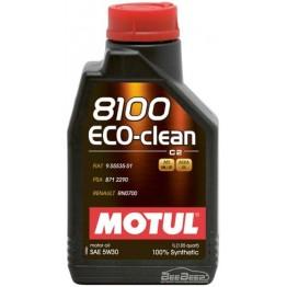 Моторное масло Motul 8100 Eco-clean 5w-30 841511/101542 1 л
