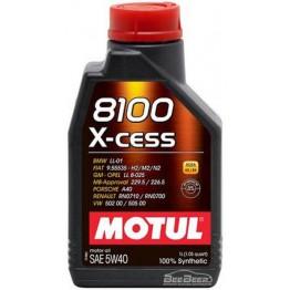Моторное масло Motul 8100 X-cess 5w-40 368201/102784 1 л