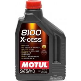 Моторное масло Motul 8100 X-cess 5w-40 368202/102869 2 л