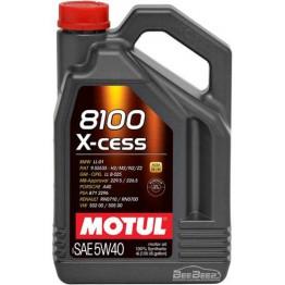 Моторное масло Motul 8100 X-cess 5w-40 368207/104256 4 л