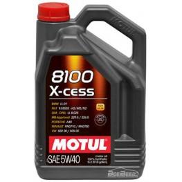 Моторное масло Motul 8100 X-cess 5w-40 368206/102870 5 л