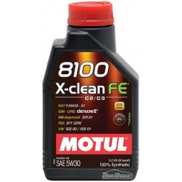 Моторное масло Motul 8100 X-clean FE 5w-30 814101/104775 1 л