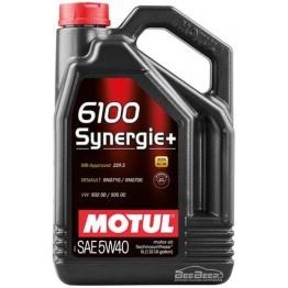 Моторное масло Motul 6100 Synergie+ 5w-40 838451/103729 5 л