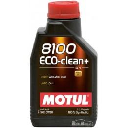Моторное масло Motul 8100 Eco-clean+ 5w-30 842511/101580 1 л