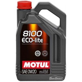 Моторное масло Motul 8100 Eco-lite 0w-20 841154/104982 4 л