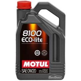 Моторное масло Motul 8100 Eco-lite 0w-20 841151/104983 5 л