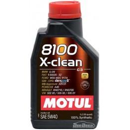 Моторное масло Motul 8100 X-clean 5w-40 854111/102786 1 л