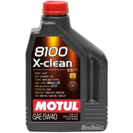 Моторное масло Motul 8100 X-clean 5w-40 854121/102049 2 л