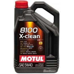 Моторна олива Motul 8100 X-clean 5w-40 854151 / 102051 5 л
