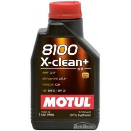 Моторное масло Motul 8100 X-clean+ 5w-30 854711/102259 1 л