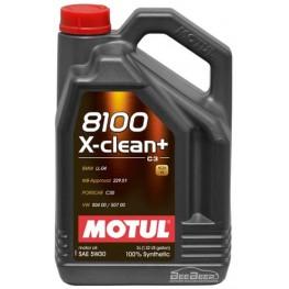 Моторное масло Motul 8100 X-clean+ 5w-30 854751/106377 5 л