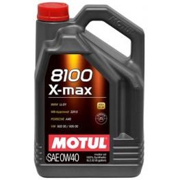 Моторное масло Motul 8100 X-max 0w-40 348206/104533 5 л