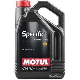 Моторное масло Motul Specific 504.00 507.00 0w-30 838651/107050 5 л