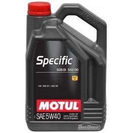Моторное масло Motul Specific 505.01-502.00-505.00 5w-40 842451/101575 5 л
