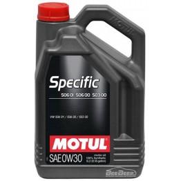 Моторное масло Motul Specific 506.01 506.00 503.00 0w-30 824206/106437 5 л