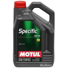Моторное масло Motul Specific CNG/LPG 5w-40 854051/101719 5 л