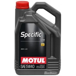Моторное масло Motul Specific LL-04 5w-40 832706/101274 5 л