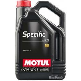 Моторное масло Motul Specific LL-12 FE 0w-30 832606/107302 5 л