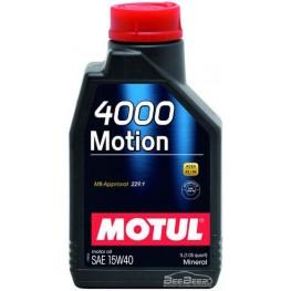 Моторное масло Motul 4000 Motion 15w-40 386401/102815 1 л
